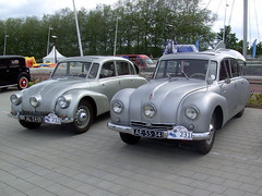1939 Tatra 87 Mk I and 1948 Tatra 87 Mk II (Davydutchy) Tags: classic car lelystad oldtimerdag lelystad2014