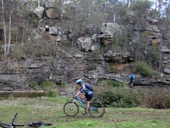 Rock Formation, Lagoon Creek (Neil Ennis) Tags: cycling trail national mtb bicentennial bnt razordback
