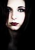 Geisha (Christine Lebrasseur) Tags: red portrait people woman white france art canon teenager fr onblack gironde léane saintloubes allrightsreservedchristinelebrasseur