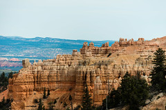 Bryce Canyon, Utah - hoodoos on the skyline from Fairyland Point (MikePScott) Tags: camera trees usa lens utah rocks unitedstates amphitheatre canyon cliffs hoodoo bryce topography fairychimney brycecanyonnationalpark tentrock brycepoint earthpyramid nikond800 nikon28300mmf3556