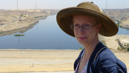 Kathrin at Aswan High Dam