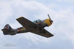 Yak-52 (Peet de Rouw) Tags: yak sky holland airplane fly airport wings flight airborne takeoff flyby vliegtuig seppe yakovlev yak52 denachtdienst canon5dmarkiii peetderouw