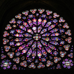 Notre Dame (Peyton Gupton) Tags: paris france church glass seine architecture river french catholic cathedral stainedglass notredame stained mass catholicism notre dame renaissance romancatholic francais seineriver
