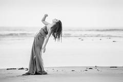 Medusa (aminefassi) Tags: sea portrait people blackandwhite bw copyright black beach fashion canon dress morocco maroc monochrom mode medusa plage rabat 6d  caftan temara moroccandress ef70200mmf28isii chedine aminefassi