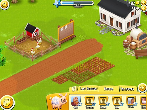 Hay Day Social: screenshots, UI