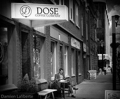 Dose Coffee in Red Deer (Damien Laliberte) Tags: street red men coffee hand quality damien deer made custom dose brewed laliberte