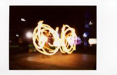 Fire Dancers (Steve_Ting) Tags: newzealand film analog firedancing otago dunedin fujifilm analogphotography instantcamera firepoi instax filmphotography instantfilm instaxmini fujifilminstax epsonv700 fujimini filmisfun steveting filmphotographypodcast stevetingphotography believeinfilm instaxmini90neo instax90neo