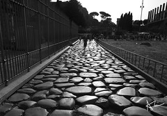 Via Triumphale (AshleyCNY) Tags: road leica longexposure light blackandwhite italy rome roma monochrome rocks constantine colosseum bandw archofconstantine leicam9 triumphale viatriumphale