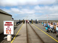 WALKING TOWARDS THE END OF THE PIER AT SOUTHPORT. UK. (ronsaunders47) Tags: pier southport