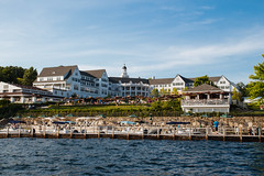 (57/365) The Sagamore Resort (Chexjc) Tags: new york blue sky lake water beautiful docks canon project point hotel boat george resort diamond landing bolton boating 365 tamron sagamore t4i 1750mm