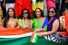 India's Independence Day Parade (snejana.iordanova) Tags: street girls portrait chicago colors twins flag indian crowd photojournalism documentary diversity parade celebration devon independence indoamerican