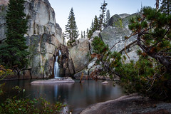 summit creek waterfall (A Silly Person) Tags: california county trees sky lake mountains water rock creek canon river waterfall granite summit wilderness tuolumne emigrant t3i