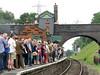 A Full Platform (R-V-P) Tags: uk bridge england station canon leicestershire platform tracks railway passengers poweshot