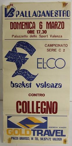 Manifesto Valenza vs. Collegno Basket - Serie C2 Maschile