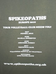 Spikeopaths Summer T-Shirt Archive: 2010 Back