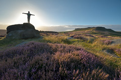 The Angel of the North (Andrew Mowbray) Tags: heather peakdistrict yorkshire darkpeak peakdistrictnationalpark gritstoneedges