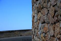 - (VisaStenvall) Tags: road old blue summer sky sun holiday hot rock stone wall canon island eos is rocks sunny santorini greece mm usm 6d 24105 f4l