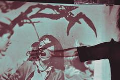(emmakatka) Tags: film girl mouth movie still hand projector fear scream horror afraid screaming bats alfredhitchcock emmakatka