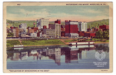 Waterfront and Wharf (Ohio County Public Library) Tags: wharf postcards ohioriver wheelingwv