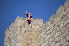 02_Dafna Tal_SANTA CLAUS 2 (Israel_photo_gallery) Tags: christmas people holiday wall israel jerusalem religion christian santaclaus tradition oldcity oldcitywalls dafnatal