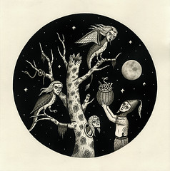 """The Harpy Tree"" (Crispy Copper) Tags: art ink portland drawings pdx fecalface"