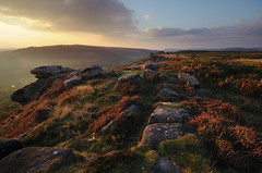 Hazy Equinox Sunset (andy_AHG) Tags: autumn sunset outdoors evening derbyshire peakdistrict hills moors pennines beautifulscenery edges pursuits britishcountryside froggattedge autumnalequinox