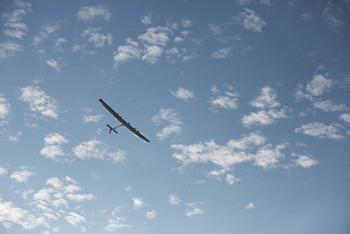 Solar Impulse 2 over Payerne