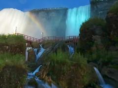Painted Veil (kimpossible pics) Tags: newyork nature water landscape outdoors niagarafalls niagara falls waterfalls rivers rainbows bridalveil bridalveilfalls niagarariver