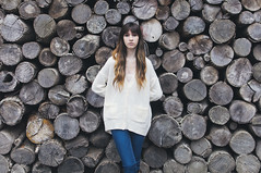Katrina (AnthonyTulliani) Tags: wood portrait white girl hair women pretty vsco vscofilm