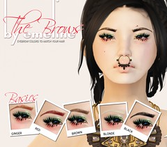 {by emeline} The Brows (LOTUS. & Ugly Duckling) Tags: life new red brown black sexy colors fashion shop tattoo ginger store mod sale pastel release makeup blogger sl secondlife eyebrow blonde buy second layer marketplace grayscale eyebrows brows emeline fatpack tintable