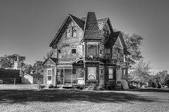 Was A Grand Old House -5 (nikons4me) Tags: old bw house building digital illinois big decay large demolished decaying nowgone canoneos5dmarkii tablegrove oncewashome