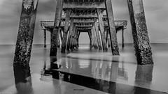 Near to Savannah Georgia (marcelraeuber) Tags: travel bridge blackandwhite water canon photo reisen wasser foto fave brcke 6d