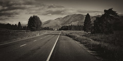 South Island Endless Road (votograf) Tags: road new white black mountains clouds 35mm island strasse sony south wolken berge zealand nz sel weiss schwarz neuseeland nex sdinsel weis 5n 35f18