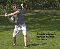 Scott MacArthur action figure (LottOnBaseball) Tags: centralpark bluejays sheepmeadow tsn scottymac aseball tsnscottymac