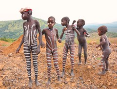 Body Painting Africa Boys Body Painted