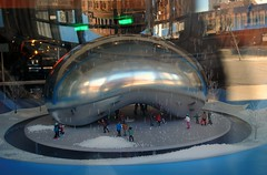Little Bean at the Chicago History Museum (Cragin Spring) Tags: bean cloudgate window chicagohistorymuseum lincolnpark northside city chicago chicagoil chicagoillinois chitown windycity illinois il urban unitedstates usa unitedstatesofamerica
