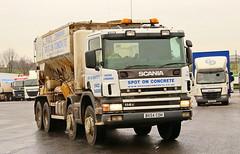 Scania 114c Eight Wheel Concrete Mixer BX54COH Frank Hilton IMG_4778 (Frank Hilton.) Tags: classic truck lorry eight wheel maudsley aec atkinson albion leyalnd bristol austin outside heavy haulage crane 8 axle