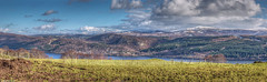 Loch Ness, the Great Glen and towards the Monadhliath and Grampian Mountains, Scotland (Michael Leek Photography) Tags: mountains grampianmountains highlands hdr michaelleek landscape landscapes highdynamicrange scotland scottishlandscapes scotlandslandscapes scottishlochs scottishhighlands lochness grampians monadhliath monadhliathmountains lake snow winter remote wild thisisscotland invernessshire photomatix photomerge