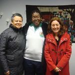Dr. Merle Bowen, Dr. Clementine Dabire visitor from Burkina Faso and Dr. Julia Bello-Bravo