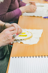 DSC_0717 (surreyadultlearning) Tags: embroidery sewing adulteducation surrey camberley art craft tutor uk painting calligraphy photography