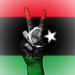 Peace Symbol with National Flag of Libya