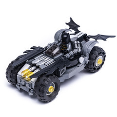 BTMN POWER (KEEP_ON_BRICKING) Tags: lego batman car vehicle moc legomoc keeponbricking legocity batmobile awesome black dark driver