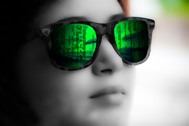 The Matrix is the world that has been pulled over your eyes to blind you from the truth., From FlickrPhotos