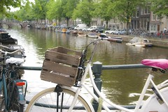 bicycles and canals (Simone.Com) Tags: house water netherlands dutch amsterdam boot canals bicycles byke