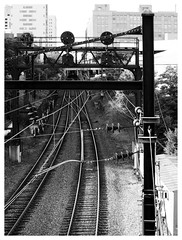 Philadelphia (daveelmore) Tags: railroad bw philadelphia blackwhite traintracks tracks rail pa mzuiko40150mmr