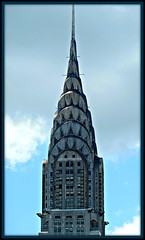 Art Deco in the Clouds (Midnight and me) Tags: nyc newyorkcity clouds skyscraper daylight artdeco gargoyles thechryslerbuilding magnificence artdecodetails famousskyscraper artdecoinnewyork midnightandme artdecointheclouds thechryslerbuildingupclose