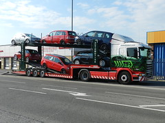 PE14XVG L7731 Eddie Stobart Scania 'Misty Fawn' with Car Transporter trailer (graham19492000) Tags: portsmouth eddie scania cartransporter stobart eddiestobart l7731 pe14xvg mistyfawn