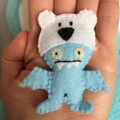 Little Ice-Bat (tiramisu_addict) Tags: toys handmade felt uglydolls icebat customplush uglycon ciwong instagram