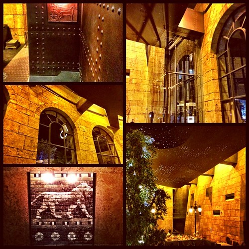 Gardens of Babel transformed into a restaurant; a great architectural and culinary experience
