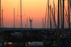 Harbor (blondinrikard) Tags: sunset reflection gteborg boats harbor masts saltholmen